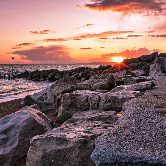 """West Bay Sunset"" stock image"