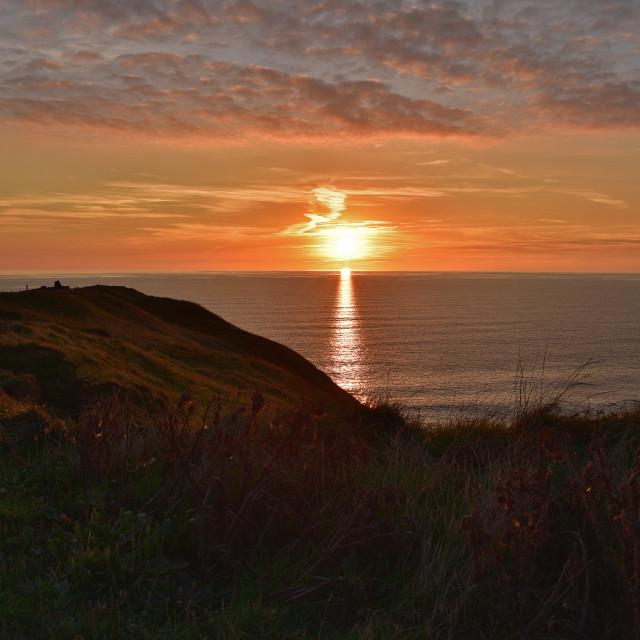 """Sunset Watching"" stock image"