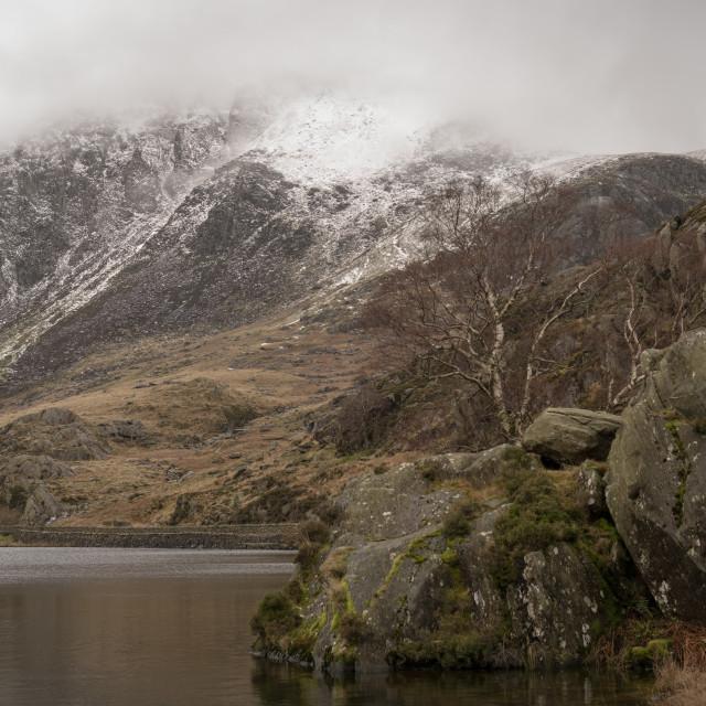 """""""Mountain View Snowdonia"""" stock image"""