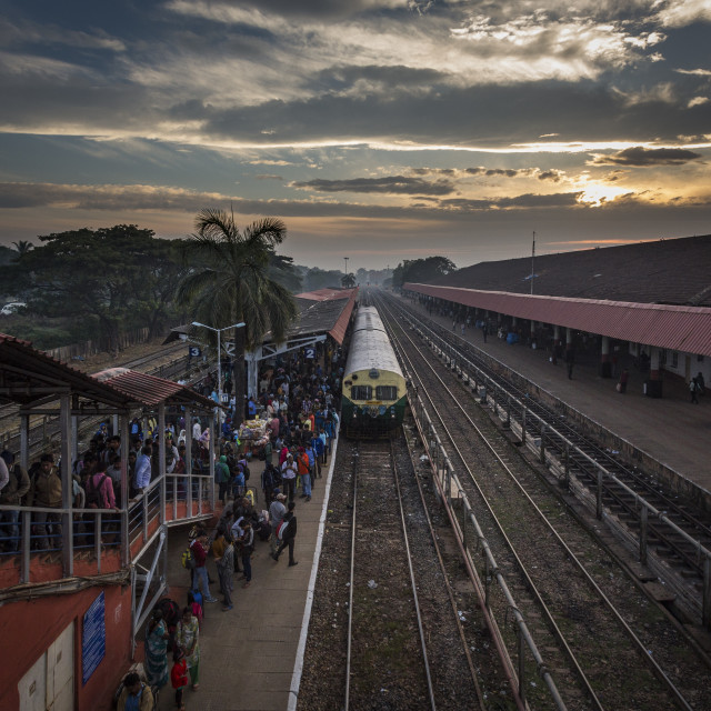 """Goa Railway Station"" stock image"