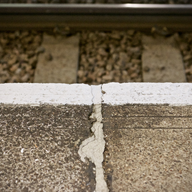 """Train Platform and tracks"" stock image"