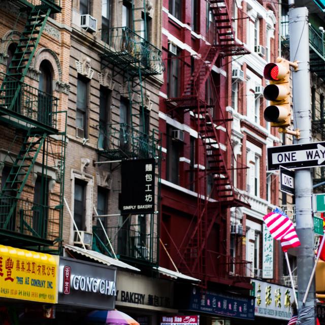 """""""New York X - Chinatown"""" stock image"""