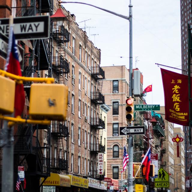 """""""New York XI - Chinatown"""" stock image"""