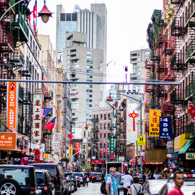"""""""New York IX - Chinatown"""" stock image"""