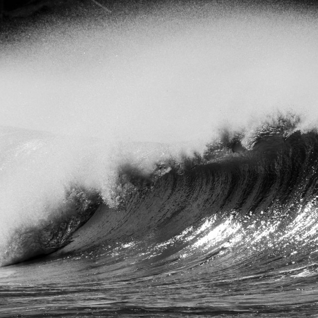 """BW Wave"" stock image"
