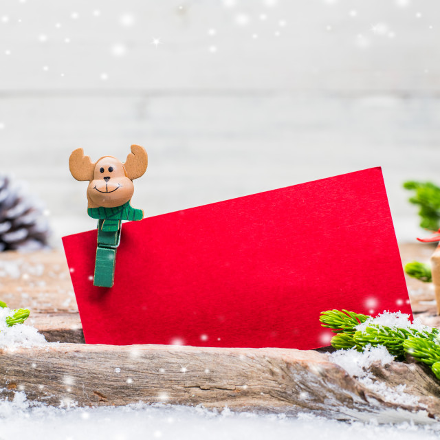 """""""Merry Christmas and Happy New Year, winter season with snow and decoration. Price tag for sale on Boxing day."""" stock image"""