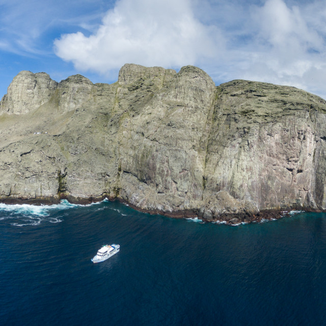 """Malpelo Island in the Eastern Pacific, off Colombia"" stock image"