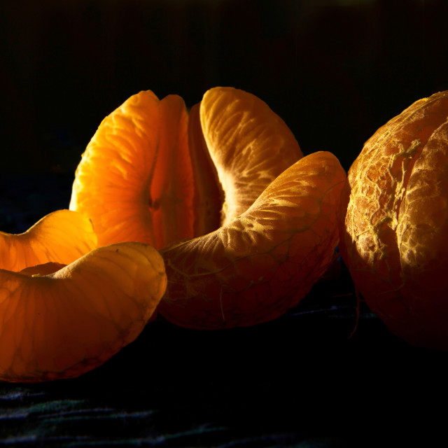 """Slice of Orange fruit"" stock image"