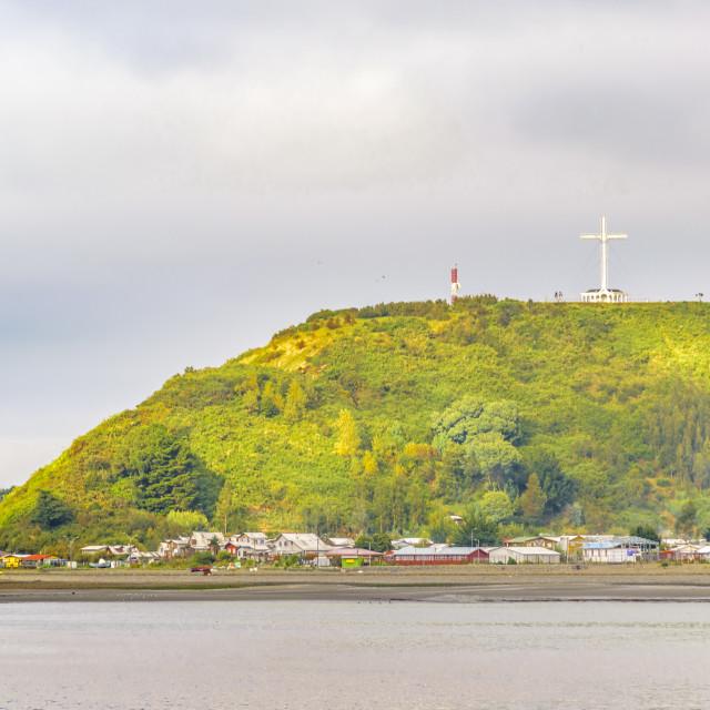 """Puerto Montt Coastal Landscape Scene"" stock image"