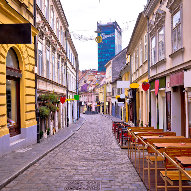 """Zagreb Radiceva street advent view"" stock image"