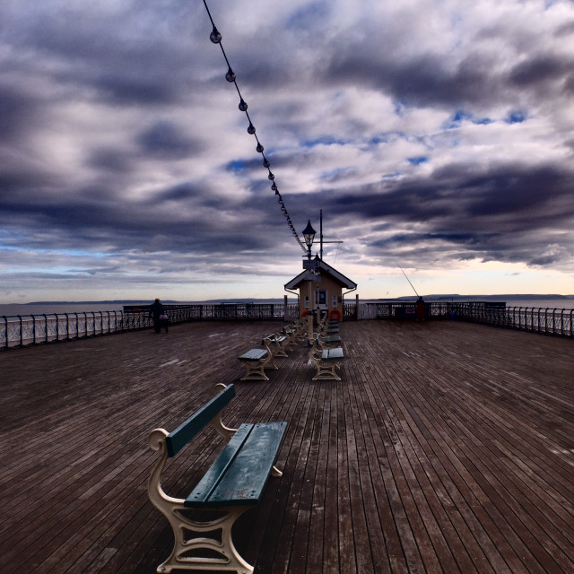 """Penarth Pier"" stock image"