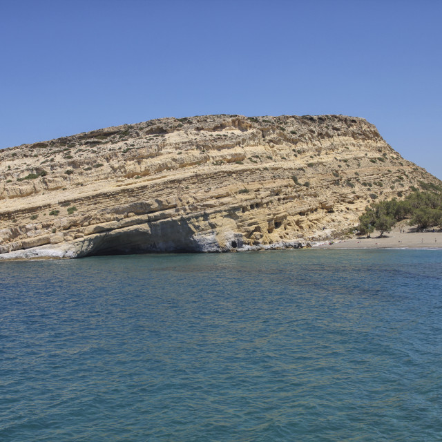 """Matala caves in Crete"" stock image"