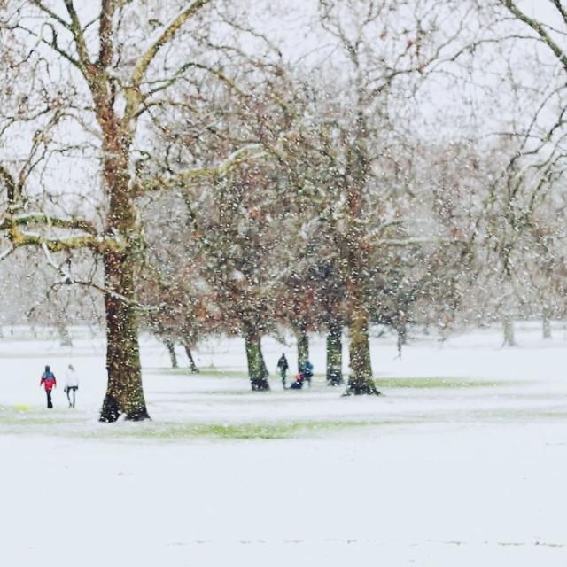 """Snow in Primrose Hill"" stock image"