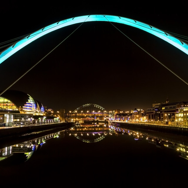 """Tyne at Night"" stock image"