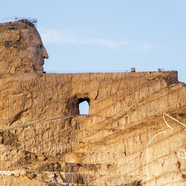 """""""A view of the Crazy Horse Memorial"""" stock image"""