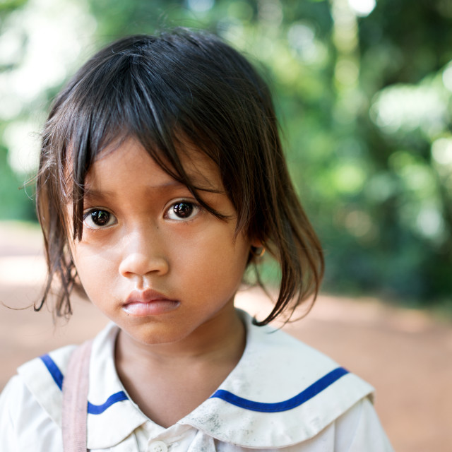 """A girl from Cambodia"" stock image"