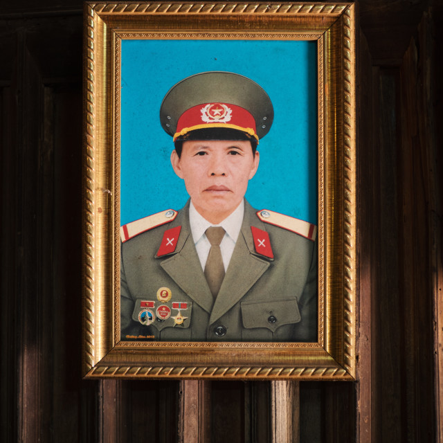 """A military portrait of a Vietnamese man"" stock image"