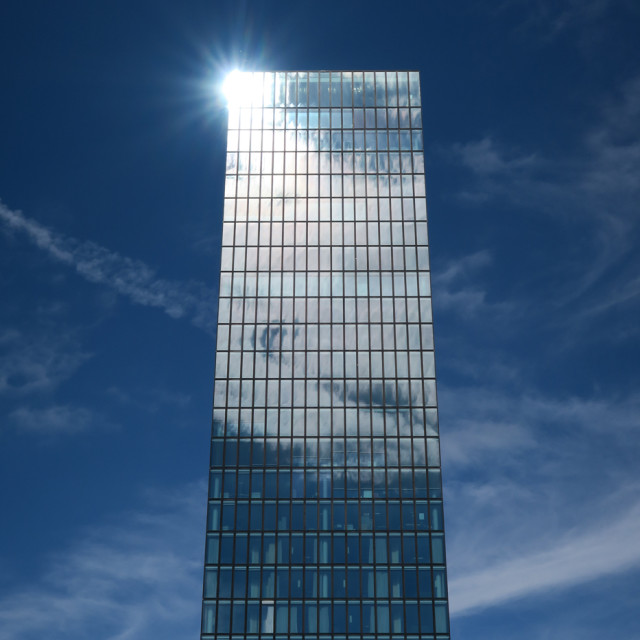 """Basel Building in the sun"" stock image"
