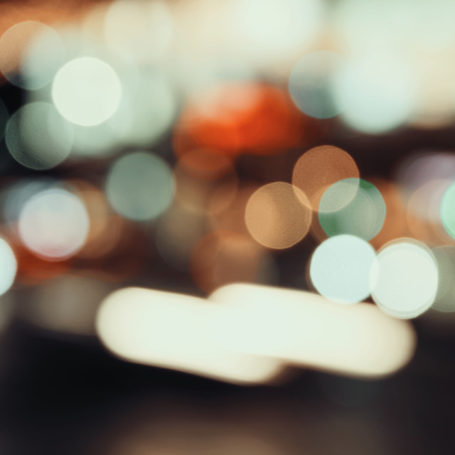 """""""City Traffic Lights Background With Blurred Lights"""" stock image"""