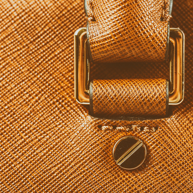"""Brown Leather Woman Bag Closeup"" stock image"