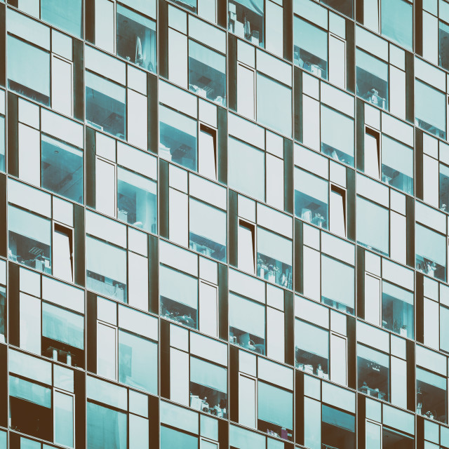 """Business Building Windows Abstract Detail"" stock image"