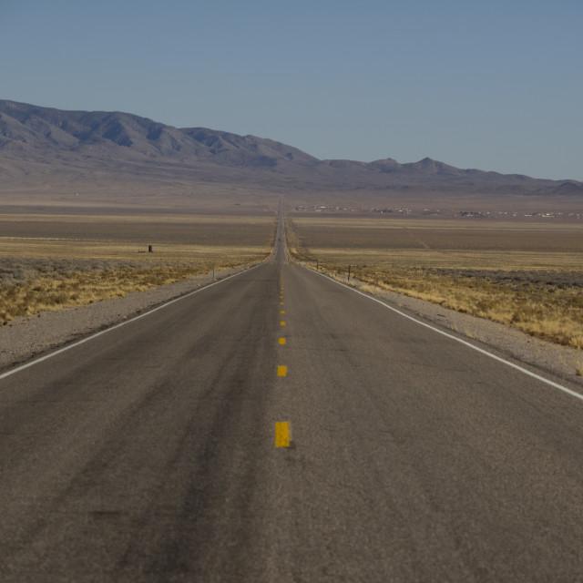 """""""Extra Terrestrial Highway"""" stock image"""