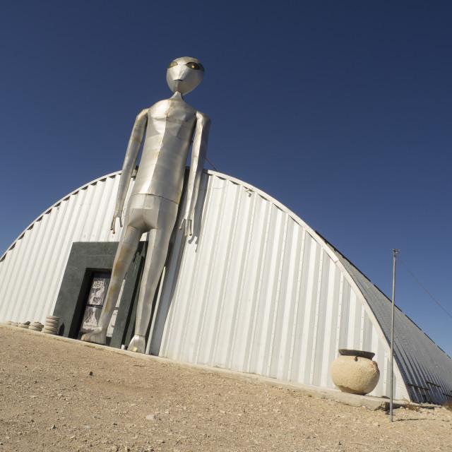 """Alien Statue"" stock image"
