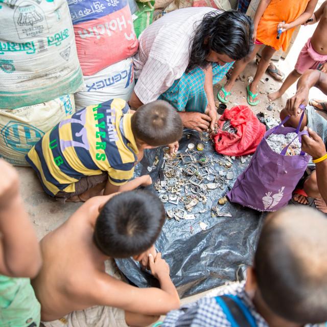 """""""Slum in Dhaka II"""" stock image"""