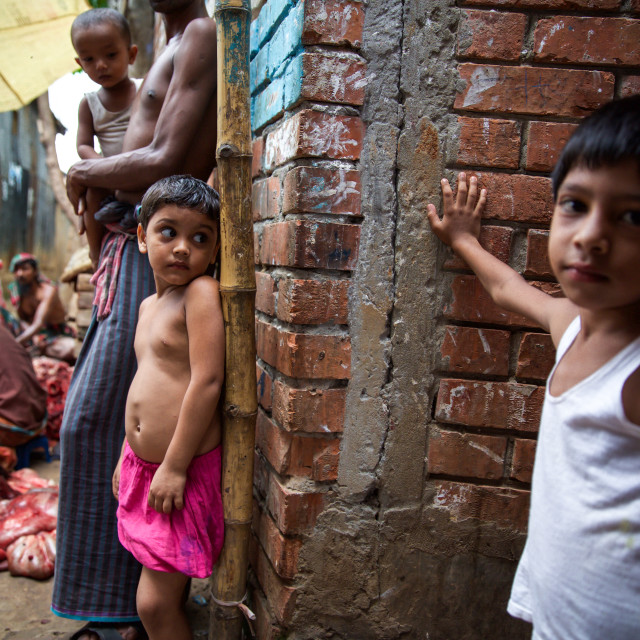 """Slum in Dhaka V"" stock image"