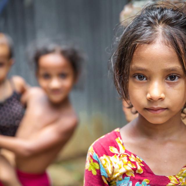 """Slum in Dhaka VI"" stock image"