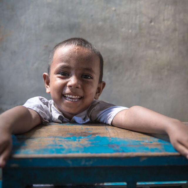 """""""School in Bangladesh II"""" stock image"""