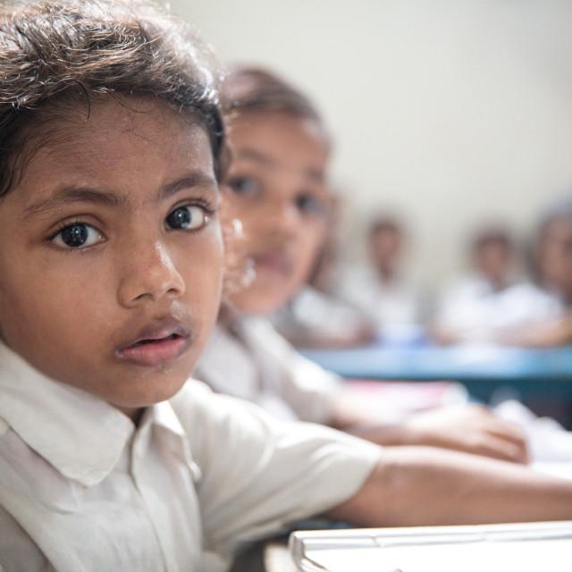 """School in Bangladesh IV"" stock image"