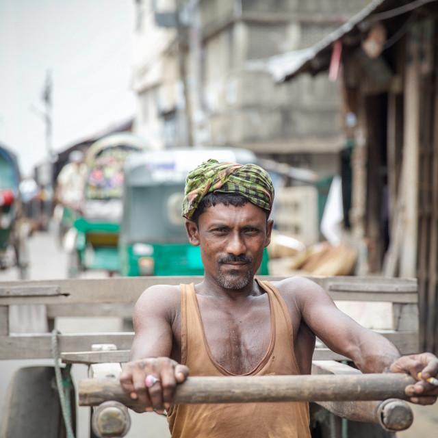 """Street life in Bangladesh Xi"" stock image"