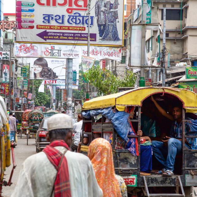 """Street life in Bangladesh XIII"" stock image"