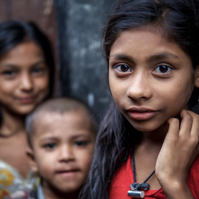 """""""Children of Bangladesh III"""" stock image"""
