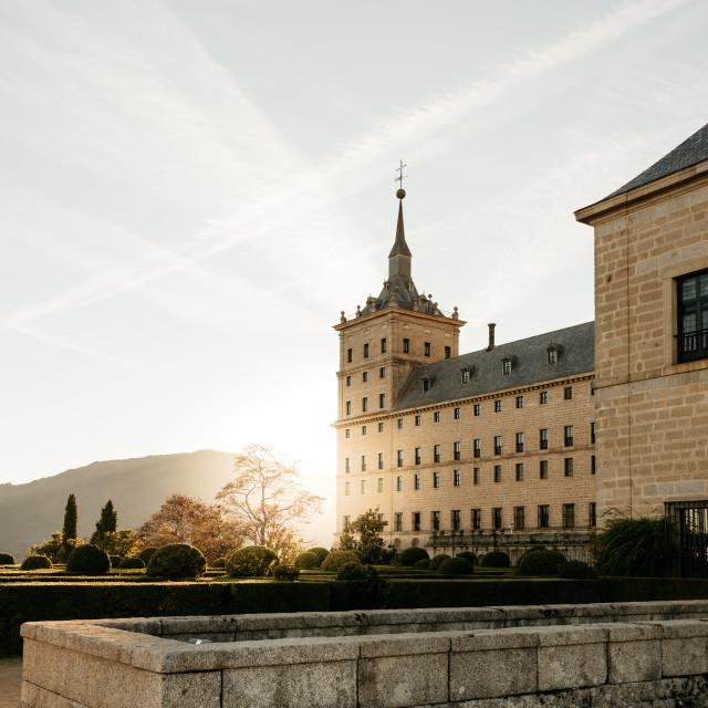 """Outdoor view of El Escorial"" stock image"