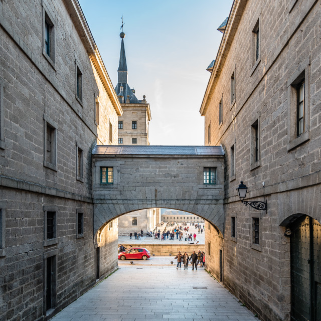 """Outdoor view of Monastery of El Escorial"" stock image"
