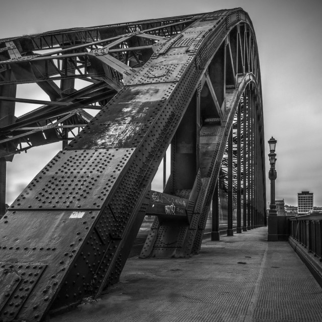 """""""Tyne Bridge Walkway"""" stock image"""