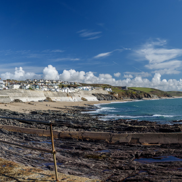 """Porthleven panorama"" stock image"