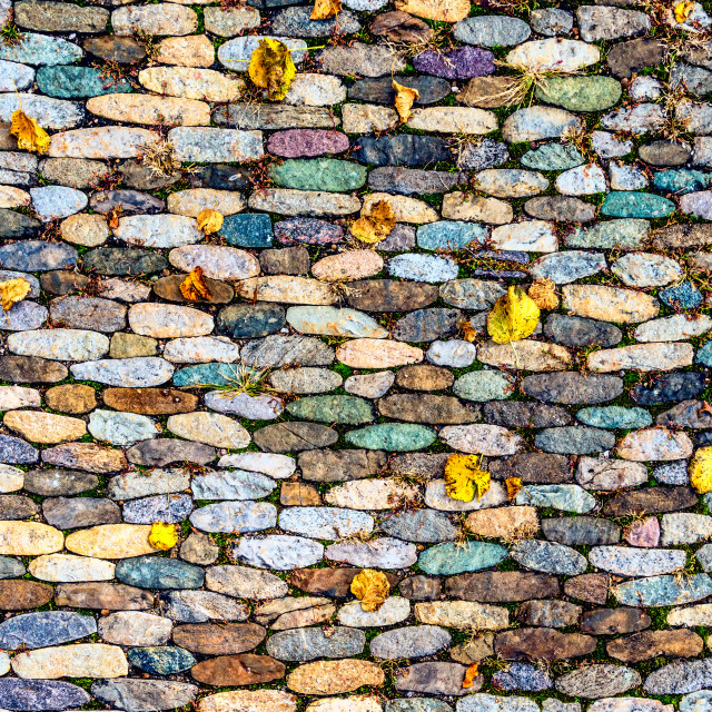 """Colorful Cobblestone"" stock image"