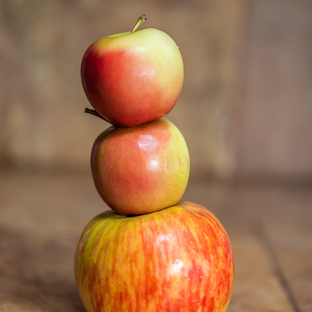 """Stack of Apples"" stock image"