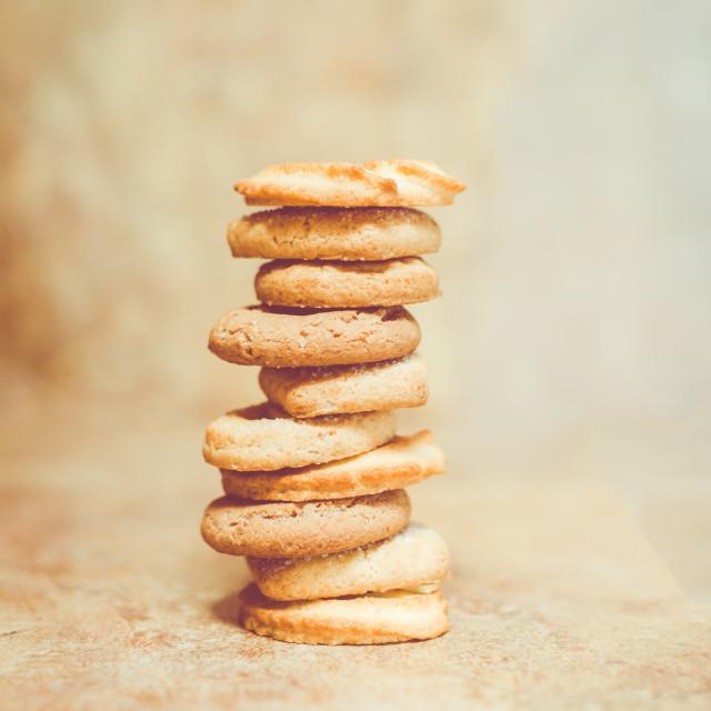 """Tower of sugar cookies"" stock image"