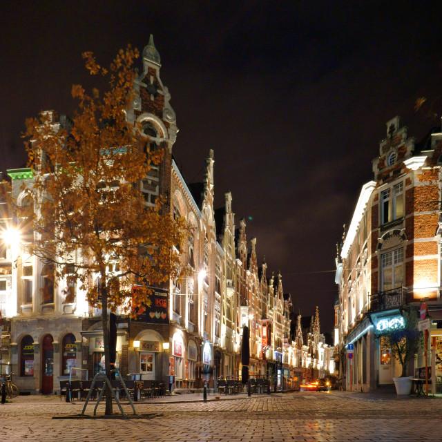 """Gent at night"" stock image"