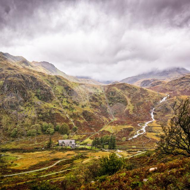 """""""Stormy Snowdonia"""" stock image"""