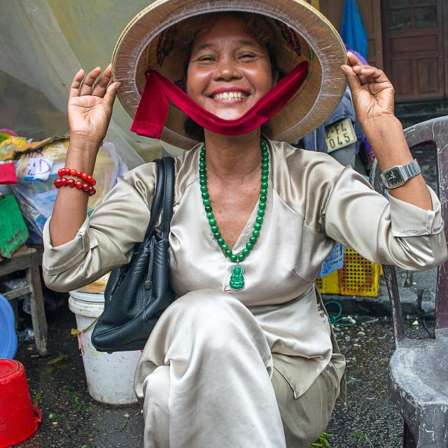 """Smiling Vietnamese woman"" stock image"