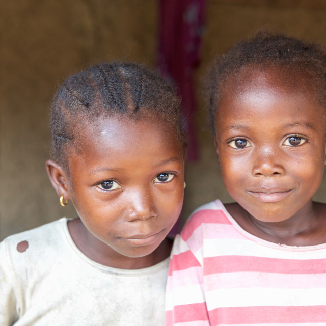 """""""Children and Childhood in Sierra Leone X"""" stock image"""