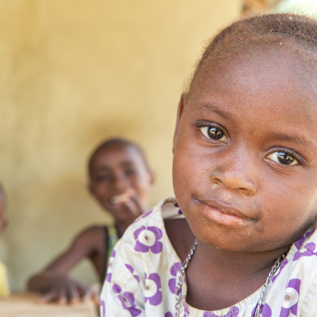 """""""Children and Childhood in Sierra Leone XIII"""" stock image"""