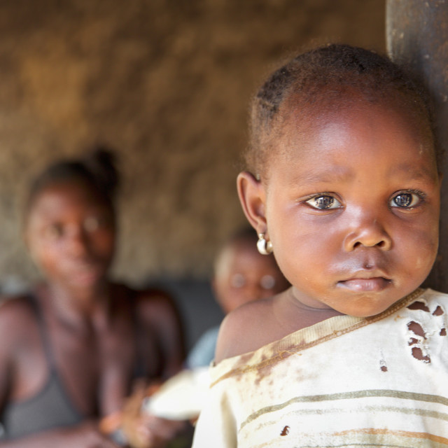 """""""Children and Childhood in Sierra Leone XII"""" stock image"""