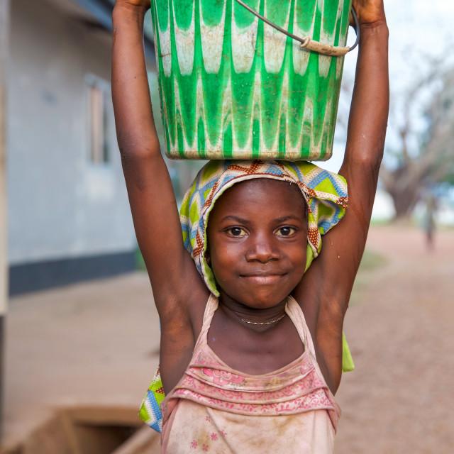 """Children and Childhood in Sierra Leone XVI"" stock image"