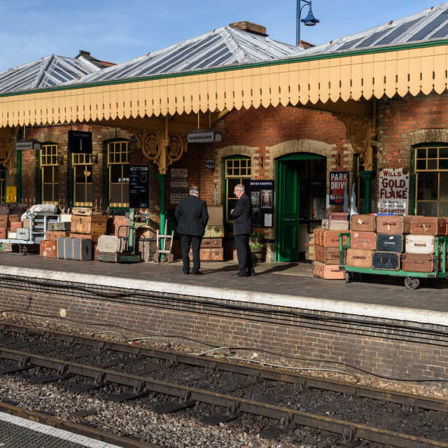 """Sheringham Station, Norfolk"" stock image"